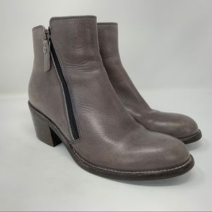 AGL Ella Bootie Gray Leather
